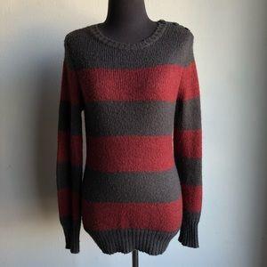 Quciksilver sz SP stripped comfy sweater
